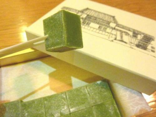 抹茶羊羹のような中村藤吉本店のチョコ菓子「生ちゃこれーと」