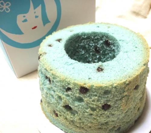チョコミント味の本家西尾八ツ橋、純米シフォンケーキ