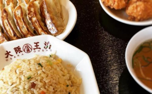 吹田サービスエリアにある大阪王将のチャーハンと餃子の定食