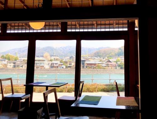 中村藤吉平等院店から見える宇治川の景色。