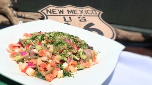 ハイアットリージェンシー大阪にて振舞われるサボテンのサラダ