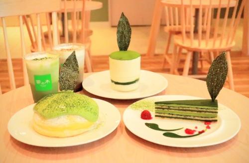 福寿園の抹茶カフェのチーズケーキやアイス、オペラの3品
