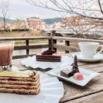 サロンドロワイヤル京都の川床カフェにてチョコレートスイーツを