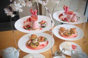 ホテル日航大阪の桜と苺のアフタヌーンティーセット2019
